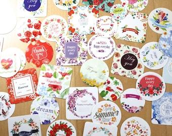 floral sticker set, Planner sticker set, Stationary Envelope seal, Wedding invites DIY