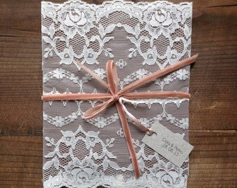 Wedding Invitations, Lace Envelope, Save the Date, Wedding Announcements, Bridesmaid Invitation