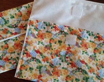 2 pcs.Organic Snack bag/Reusable Eco friendly /Cotton Bag/Bach to school