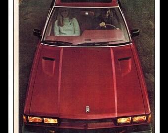 """Vintage Print Ad March 1980 : Datsun 200 SX Car Automobile Advertisement Wall Art Decor Color 8.5"""" x 11"""""""