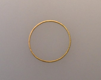 Simple solid 18k yellow gold ring