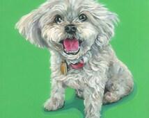 Digital Print, dog print, pet pop art, pet portrait, pet prints, art print, Bichon Frise, dog pop art, digital image 8x10
