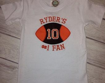 Custom applique football tshirt!!!