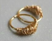 gold cartilage earrings // gold cartilage hoop // gold hoop earrings