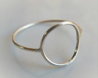 Open Circle Ring // Karma Ring // Sterling Silver Stacking Rings // Sterling Silver Circle Ring
