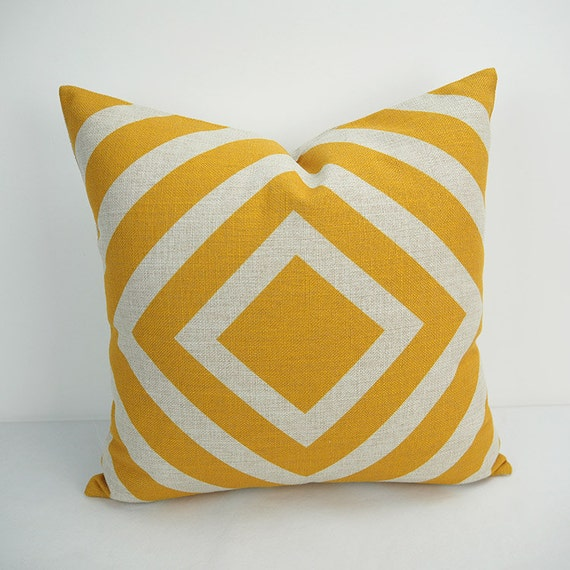 Yellow Throw Pillow Cases : Yellow Pillow cover 18x18 Pillow Pillow case Yellow by HomeDecorYi