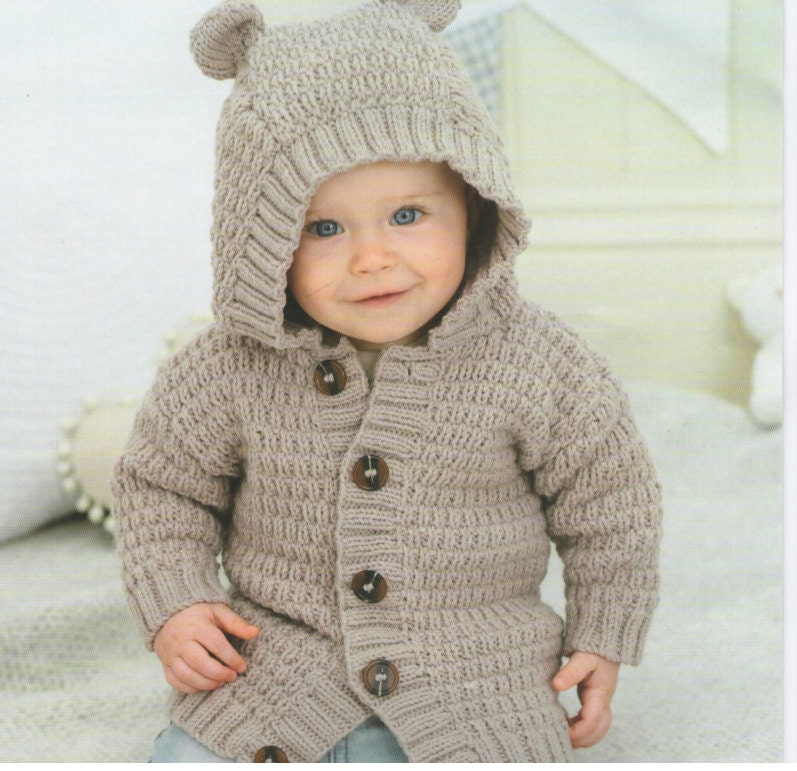 Free Knitting Patterns For Babies Nz Only : Vintage Pattern Baby sweater Instant Download cardigan