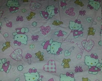 Hello Kitty Angel Sanrio Baby Quilt Fabric for Top Panel