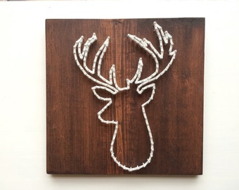 Deer Silhouette String Heart
