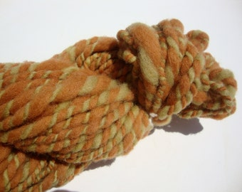 naturally dyed, hand dyed, hand-spun, 2-ply wool yarn