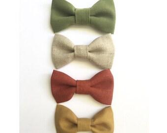 Linen Bow Tie, Boy Bow Ties, Bow Ties, Bow Tie, Mustard Bow Tie, Tan Linen Bow Tie, Olive Bow Tie, Rust Bow Tie