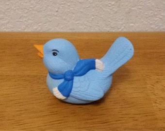 Ceramic Blue Bird Looking To the Left (#106B)