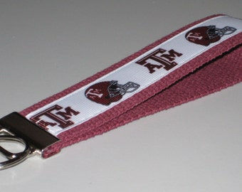 Texas A&M University Football Key Fob Wristlet
