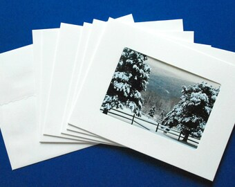 Nature Art Photo Greeting Cards: Winter in Vermont Collection, Set of 6 Blank, Handmade
