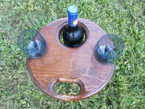 Unique wine gift - Folding outdoor wine table