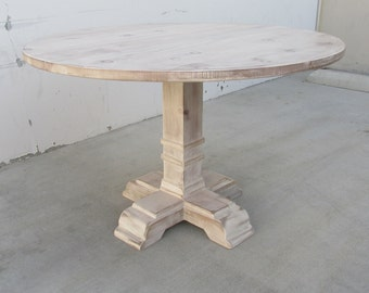 Table, Dining Table, Kitchen Table, Reclaimed Wood, Round Table, Rustic, Shabby Chic