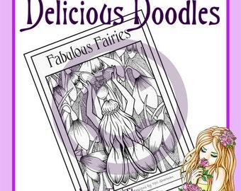 PDF Downloadable Colouring Book - Fabulous Fairies Volume 1