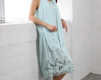 Drop Waist Dress by Usindo Vintage 90's Color Mint size Medium