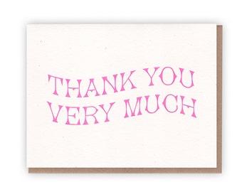 Thank You Card - Set of 5 // Letterpress