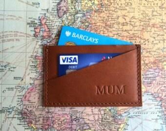 Personalised Leather Credit Card Holder By Vida Vida