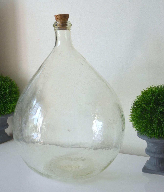 Grosse bonbonne dame jeanne en verre souffl 15 litres verre for A bon verre bonne table
