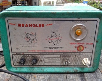 Man Cave, Super Snapper, Prop, Electric Fence Controller TE, Cattle, Cow Fence, Livestock, Ranch, Green, Steampunk, Industrial, Machine Age