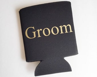 Groom Can Cooler Personalized