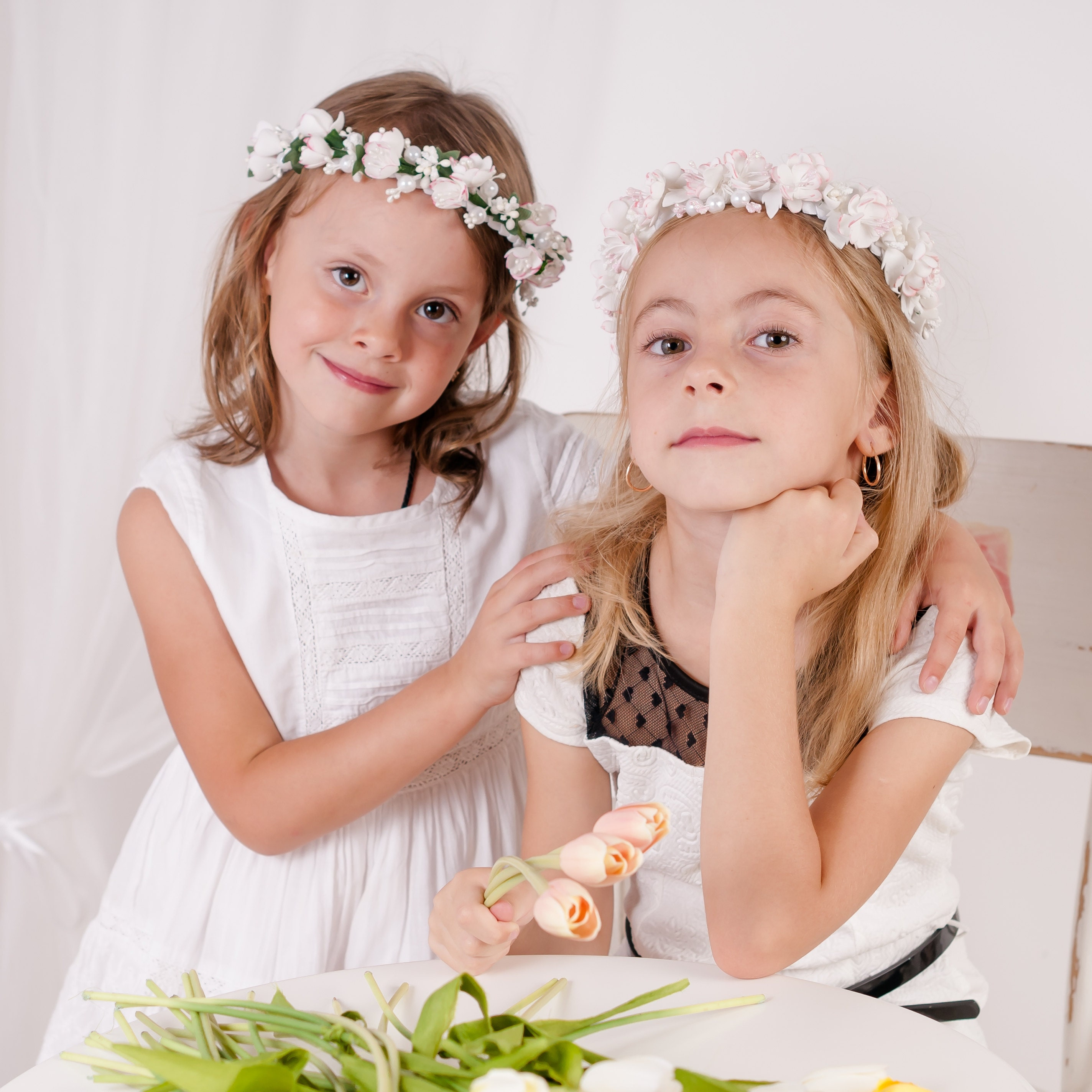 Bride floral headband white rose flower crown flower hair request a custom order and have something made just for you izmirmasajfo Image collections