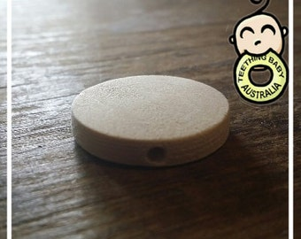 DIY Coin shape 25mm Cherry Wood Natural Eco  beads- Wooden - non toxic - Wholesale