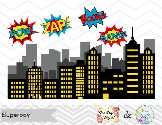 Instant Download Superhero Little Boy by TracyDigitalDesign