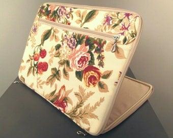 Laptop case 15 inch,Laptop sleeve 15.6 inch,Laptop cover 15,Macbook beige case 15,floral pattern,laptop pattern case,flowers,red,custom,mac