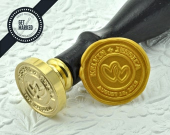 Circle of Love - Customized Wedding Wax Seal Stamp Template by Get Marked (WS0223)