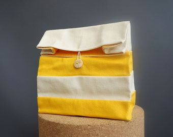 Yellow lunch bag