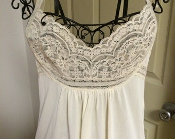 Vintage Lace Nightgown by Miss Elaine