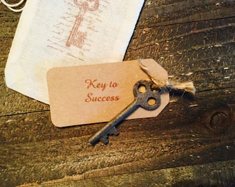 Key to sucess, iron key gift, Congratulations  gift, graduation gift, good luck token, good fortune gift, vintage gift, rustic gift