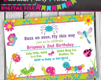 Bugs Invitation, Bugs Birthday Invitation, Bugs Birthday, Bugs Party