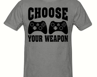 Choose your weapon gaming t shirt, boys t shirt sizes 5-15 years,children's gamer t shirt