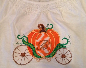 Pumpkin carriage with Initial