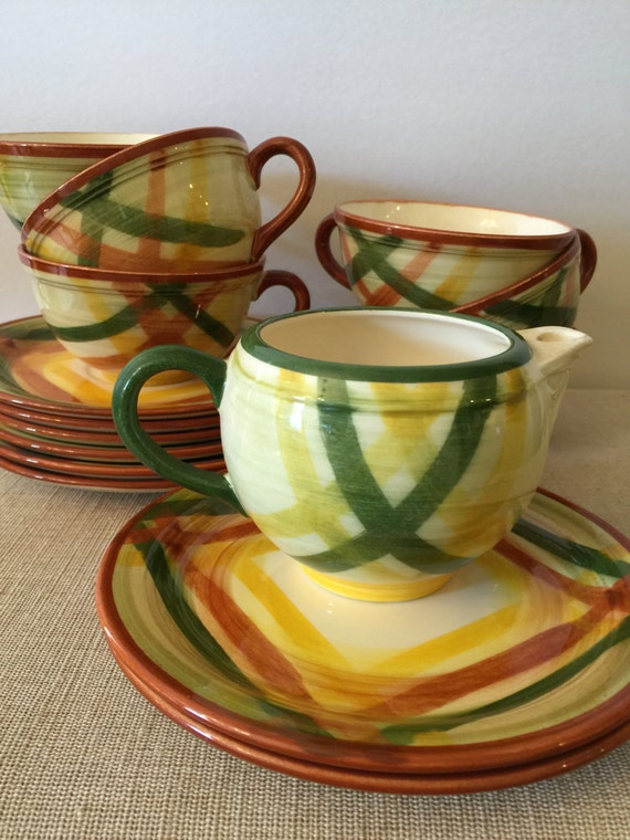 Mid Century California Dinnerware Vernonware By Metlox 6