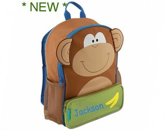 Personalized Silly Monkey Sidekick Backpack