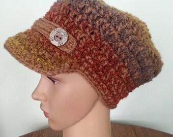 Newsboy Hat, Women's Hat, Crochet Newsboy Hat, Winter Hat, Women's Accessories