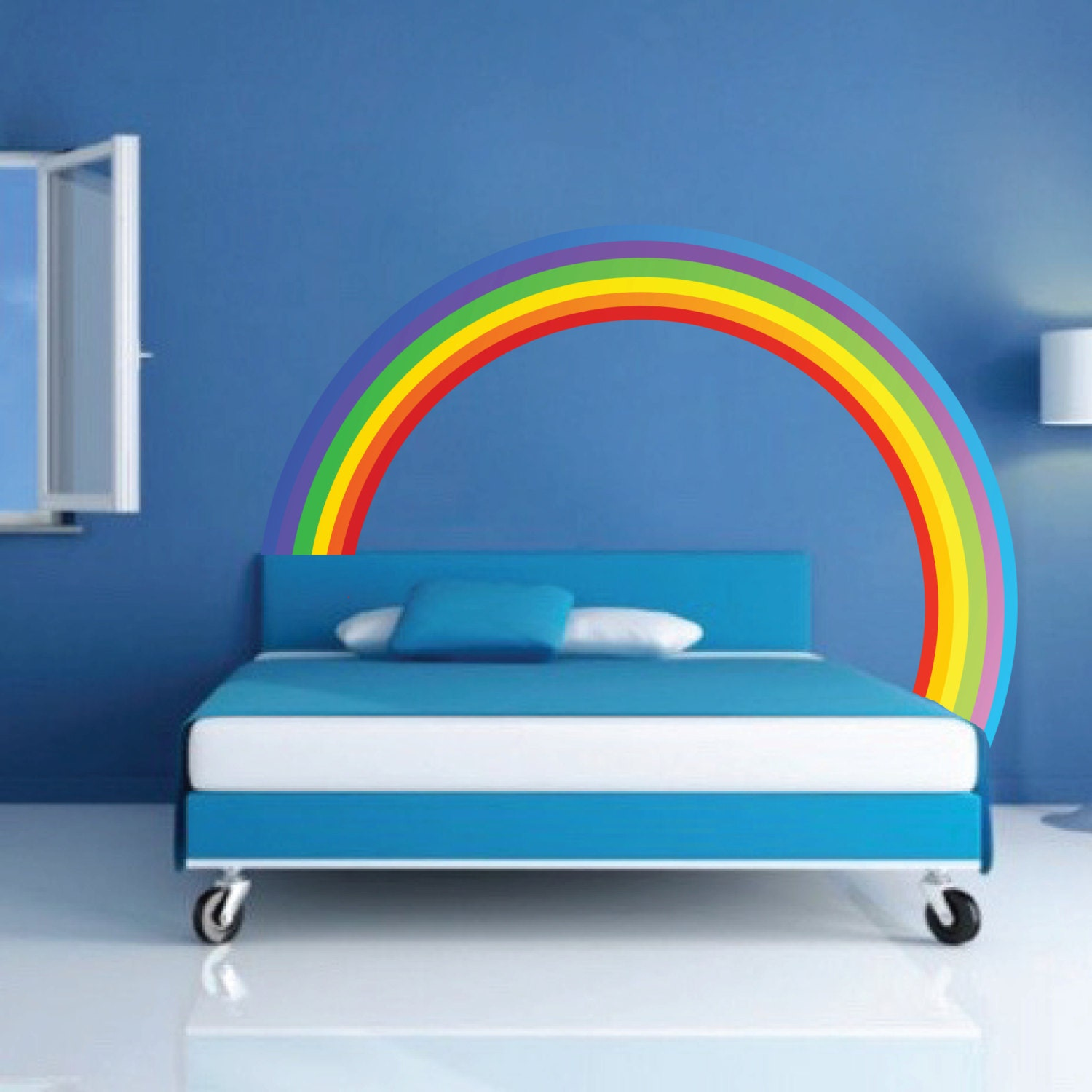 Rainbow Wall Decal Kids Bedroom Rainbows Rainbow Wall Art