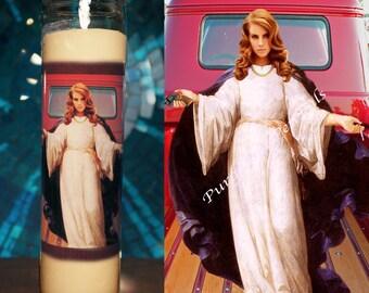 Saint Lana Del Rey Prayer Candle