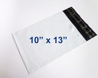 "Pack of 100 (10"" x 13"") Poly Mailers Envelopes Self Sealing Plastic Lightweight Shipping Polybag Polymailer 10x13"