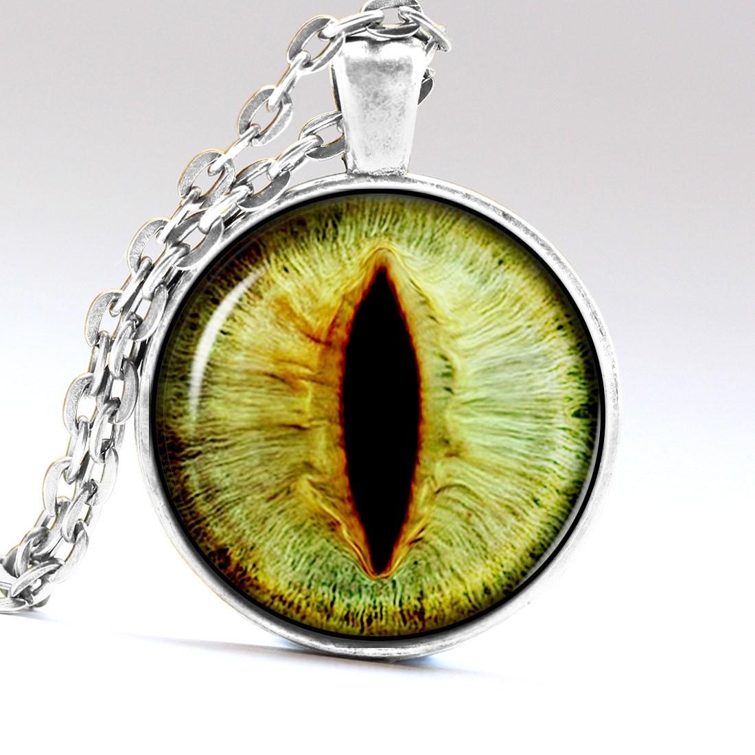 cat eye pendant tiger eye necklace ogre eye jewelry by