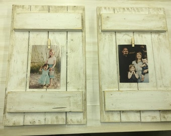 Cream distressed photo frame