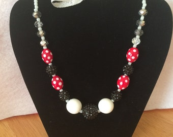 Little Girls Minnie Mouse Inspired necklace