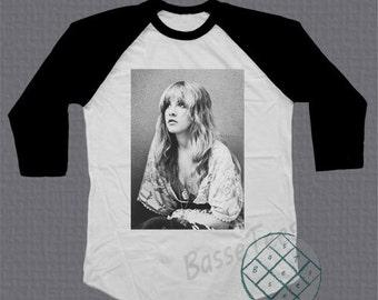 Stevie Nicks Fleetwood Mac shirt baseball tee raglan tshirt unisex size S - L