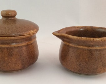 SALE - Monmouth Pottery Cream and Sugar Set