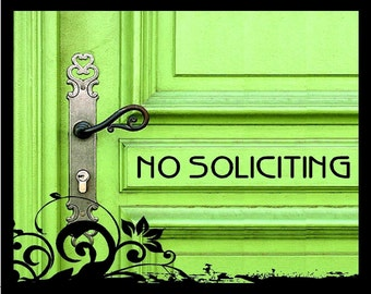 Set of 2 - No Soliciting - Vinyl Decal